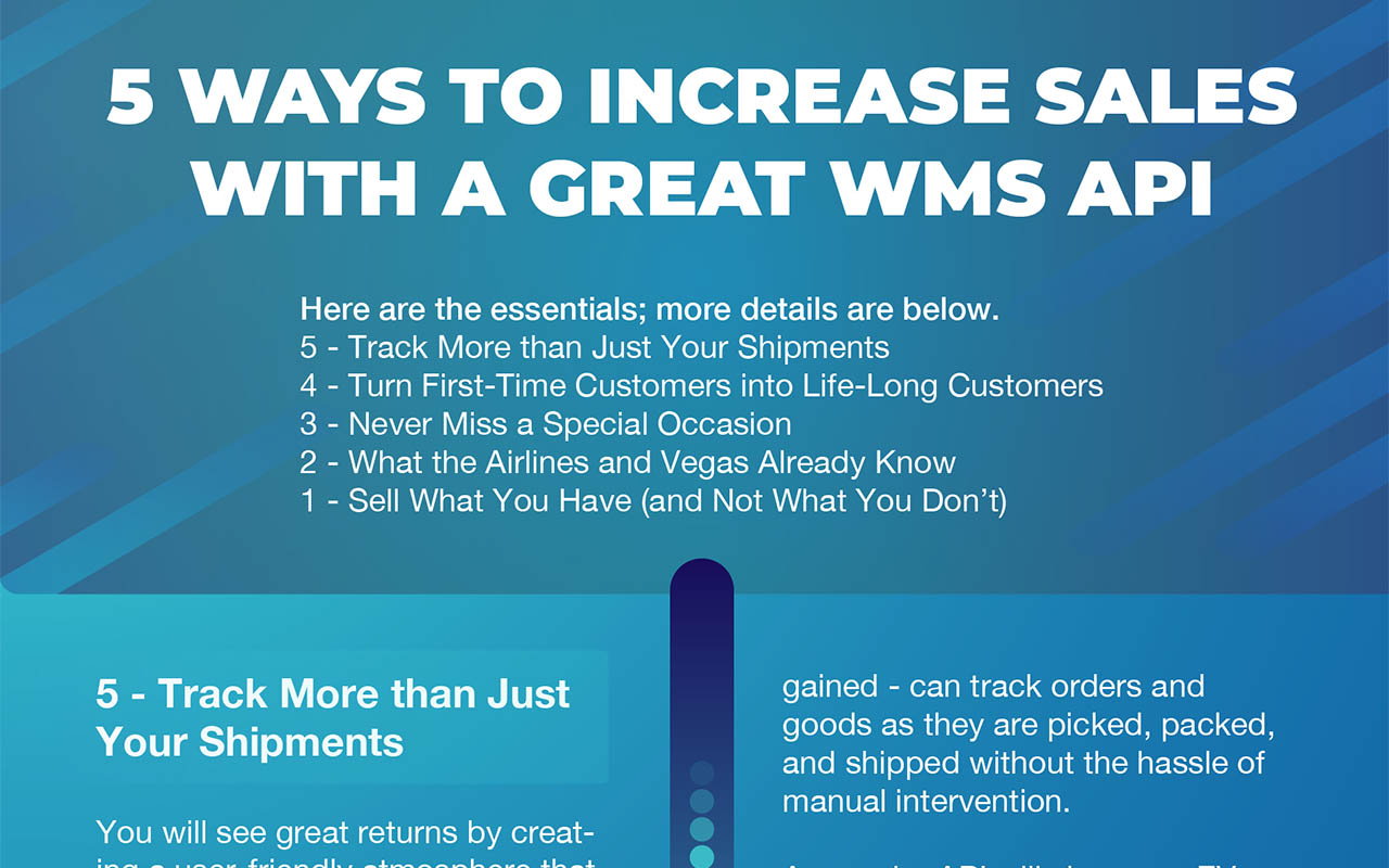 5 Ways to Increase Sales with a Great WMS API - Hero